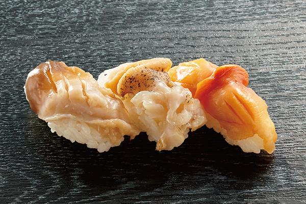 厳選貝三種 ほっき貝・つぶ貝・赤貝