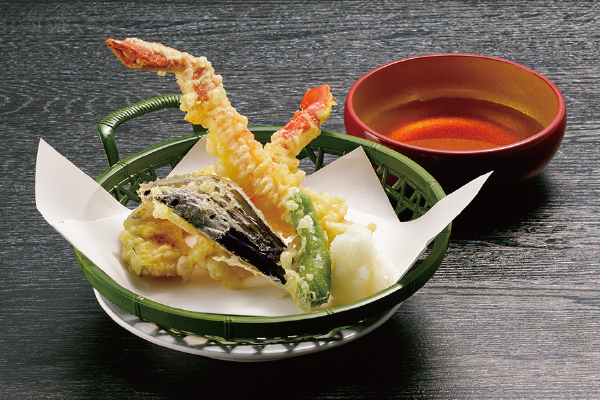 ずわいがにと野菜の天ぷら